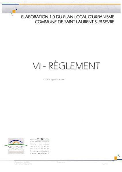 thumbnail of Règlement PLU