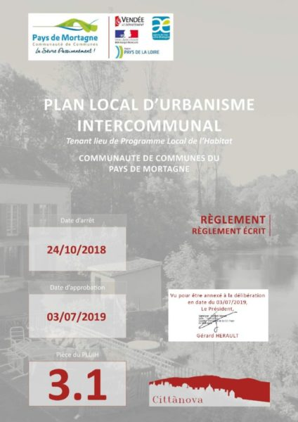 thumbnail of Règlement PLUi