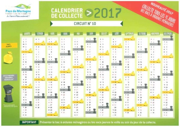 thumbnail of calendrier collecte 2017